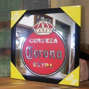 コロナ パブミラー インテリア ウォールミラー 鏡 CORONA VINTAGE EXTRA ガレージミラー|goodsfarm