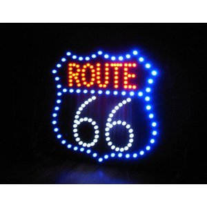 LED ダイカットボード ルート66 インテリアピクチャー|goodsfarm|04