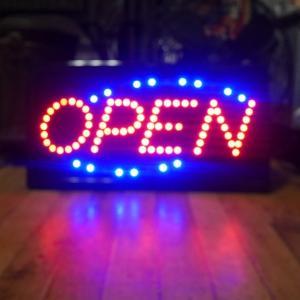OPEN LEDネオンサイン インテリア サインボード オープン|goodsfarm|02