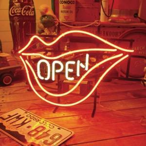 OPEN LIP ネオンサイン ネオン管 オープン|goodsfarm