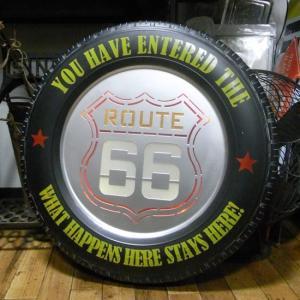 ルート66 タイヤ LEDサイン インテリア ROUTE66 ネオンサイン ウォールサイン|goodsfarm