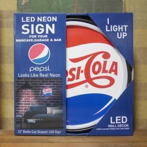 ペプシコーラ 王冠型 LED ロープ ネオンサイン PEPSI COLA|goodsfarm
