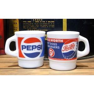 ペプシコーラ ミルキーガラス スタッキング マグカップ|goodsfarm|04
