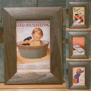 レトロ ミニ ピクチャーフレーム ポストカード 写真立て ウッデン フォトフレーム|goodsfarm