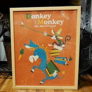 Donkey Monkey インテリアピクチャー ポスター フレームセット|goodsfarm