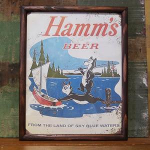 HAMM BEER BEAR BOAT インテリアピクチャー ポスター フレーム|goodsfarm