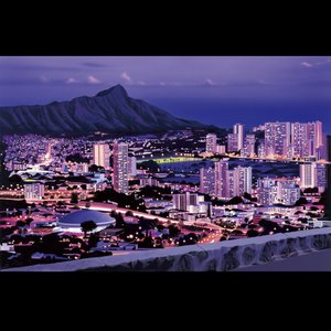 栗山義勝 ライト付き キャンバスピクチャー TANTALUS ハワイアン インテリアピクチャー タンタラス|goodsfarm