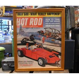 インテリアピクチャー ポスター フレーム  HOT ROD アメリカン雑貨 ホットロッド|goodsfarm