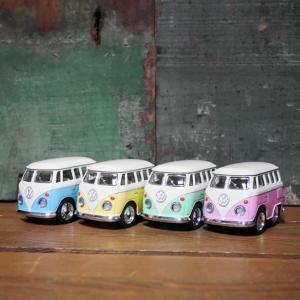 フォルクスワーゲン ダイキャストミニカー 4Pセット Volkswagen Little Van バス プルバックミニカー|goodsfarm