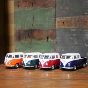フォルクスワーゲンバス ダブルキャブ ピックアップ 1963 ダイキャストミニカー Volkswagen Bus 1/34 KiNSMART|goodsfarm