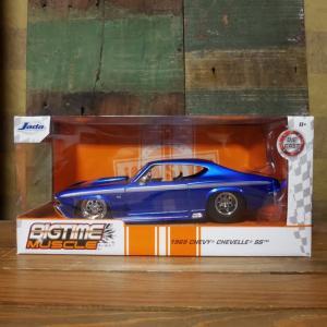 シェベルSS 2ドア ハードトップ JADA TOYS BTM 1969 Chevy Chevelle SS Candy Blue 1/24 レトロミニカー|goodsfarm