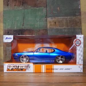 ポンティアック GTO ジャッジ JADA TOYS BTM 1969 Pontiac GTO Judge Candy Blue 1/24 レトロミニカー|goodsfarm