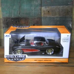 レトロミニカー 1957 CORVETTE HARDTOP 1:24サイズ シェビー コルベット JADA TOYS|goodsfarm|02