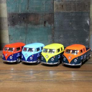 フォルクスワーゲン ダブルキャブ ピックアップ ダイキャストミニカー 1963 VW Bus Double Cab Pickup goodsfarm