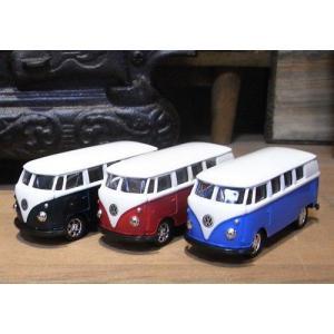 ミニカー フォルクスワーゲン バス WELLY レトロミニカーアメリカン雑貨|goodsfarm