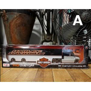 ハーレーダビッドソン トレーラー トラック インテリア 1/64 Maisto Harley-Davidson|goodsfarm|02