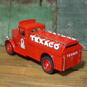 テキサコ オイル ダイキャストミニカー 1943 TEXACO 1/34サイズ T-23 GMC タンカー レッド 貯金箱|goodsfarm|05