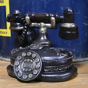 レトロ 電話機 インテリア 貯金箱 オールドアメリカン|goodsfarm