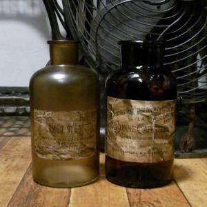 アンティーク ガラス瓶 インテリア 花瓶|goodsfarm