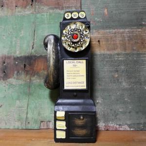 レトロ アメリカン 公衆電話 貯金箱 ブラック 電話機 インテリア|goodsfarm