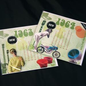 年代別ヒットチャート20曲入りCD付き グリーティングカード A TIME TO REMEMBER 1963年 1964年|goodsfarm