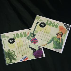年代別ヒットチャート20曲入りCD付き グリーティングカード A TIME TO REMEMBER 1965年 1966年|goodsfarm