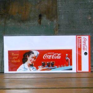 コカコーラ ステッカー ピンナップガール COCACOLA DRINK STICKERS アメリカン雑貨|goodsfarm