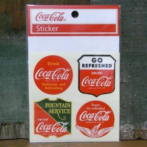 コカコーラ ステッカー 4セット COCACOLA VALUE STICKERS アメリカン雑貨|goodsfarm