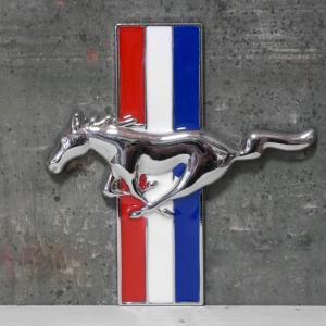 Mustang スチール ステッカー フォード マスタング エンブレム|goodsfarm