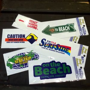 SURF STICKER サーフ ステッカー シール on the Beach|goodsfarm