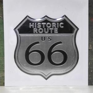 ROUTE66 スチール ステッカー ルート66 アメリカン ウォールステッカー アメリカン雑貨|goodsfarm