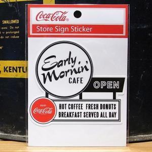 コカコーラ オープン CAFE ステッカー アメリカン雑貨|goodsfarm