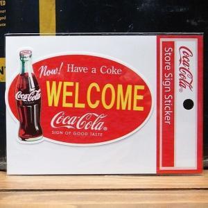 コカコーラ WELCOME ステッカー アメリカン雑貨|goodsfarm