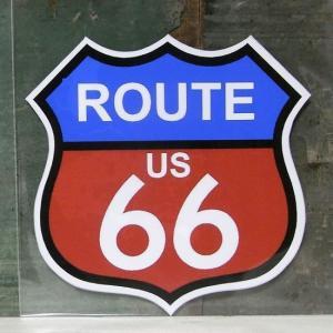 ROUTE66 PVC ステッカー ルート66 アメリカン ウォールステッカー アメリカン雑貨|goodsfarm