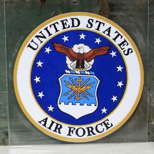 AIR FORCE ミリタリー ステッカー エアフォース アメリカン ウォールステッカー アメリカン雑貨|goodsfarm