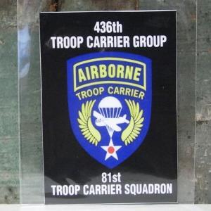 AIR BORNE ミリタリー ステッカー エアボーン アメリカン ウォールステッカー アメリカン雑貨|goodsfarm