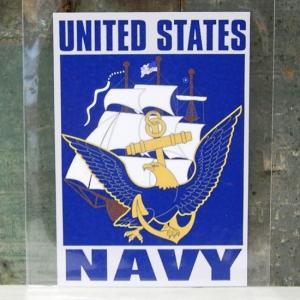 NAVY ミリタリー ステッカー 海軍 アメリカン ウォールステッカー アメリカン雑貨|goodsfarm