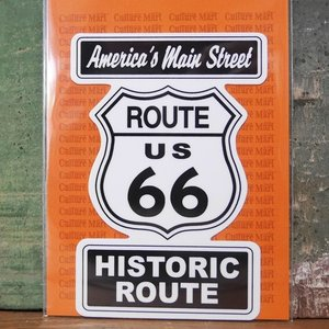 ルート66 ステッカー シール ROUTE66 SIGN STICKER|goodsfarm