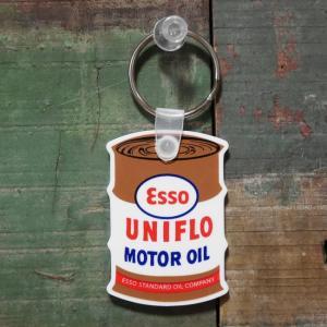 オイル缶 レーシングラバーキーホルダー ESSO OIL エッソオイル アメリカン雑貨|goodsfarm