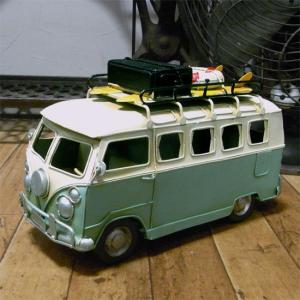 フォルクスワーゲン バス ノスタルジックデコ 自動車 ブリキのおもちゃ|goodsfarm