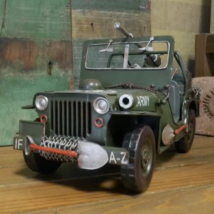 アーミージープ ミリタリー ブリキのおもちゃ 自動車 レトロ インテリア goodsfarm 02