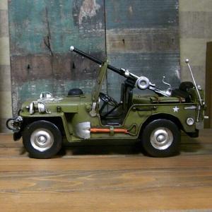 ブリキのおもちゃ ジープ アーミー 自動車|goodsfarm|02