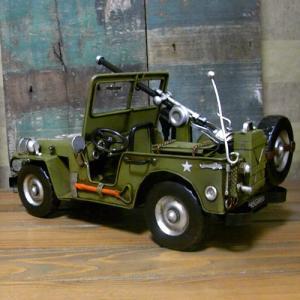 ブリキのおもちゃ ジープ アーミー 自動車|goodsfarm|03