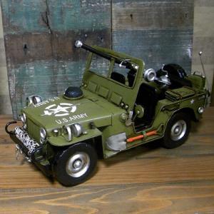 ブリキのおもちゃ ジープ アーミー 自動車|goodsfarm|04