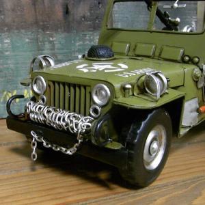 ブリキのおもちゃ ジープ アーミー 自動車|goodsfarm|05