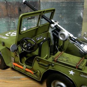 ブリキのおもちゃ ジープ アーミー 自動車|goodsfarm|06