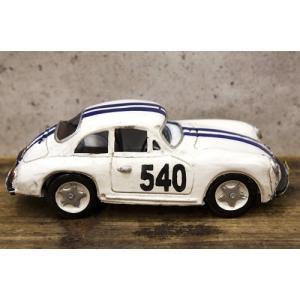 レーシングカー ホワイト540 インテリア ブリキのおもちゃ 自動車|goodsfarm|03