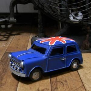 ミニクーパー ブリキのおもちゃ ノスタルジックデコ キーストーン|goodsfarm