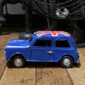 ミニクーパー ブリキのおもちゃ ノスタルジックデコ キーストーン|goodsfarm|02