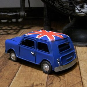 ミニクーパー ブリキのおもちゃ ノスタルジックデコ キーストーン|goodsfarm|03